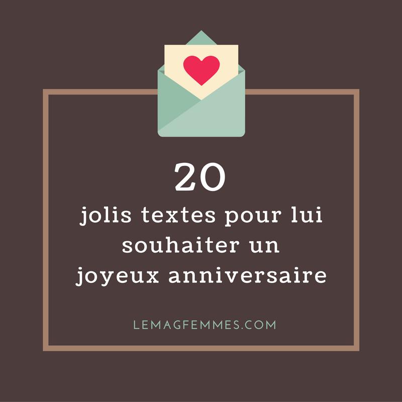 20 jolis textes pour souhaiter un joyeux anniversaire